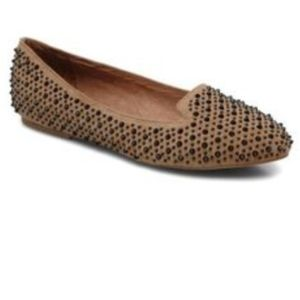 Jeffrey Campbell Martini studded flats in sand 8.5